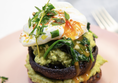 Kumara Burger Poached Egg & Avocado