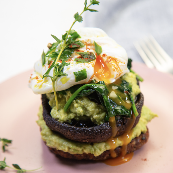 Kumara Burger Poached Egg & Avocado