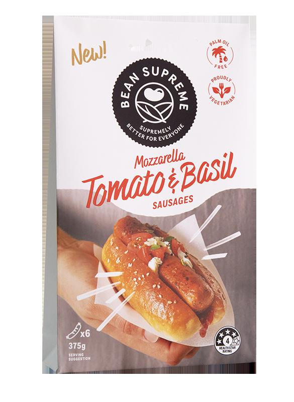 Mozzarella, Tomato & Basil Sausages Image