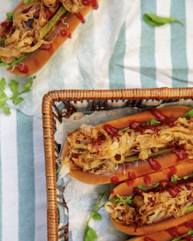 Vegetarian Hot Dogs Image