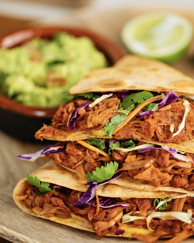 Pulled Jackfruit Quesadillas Image