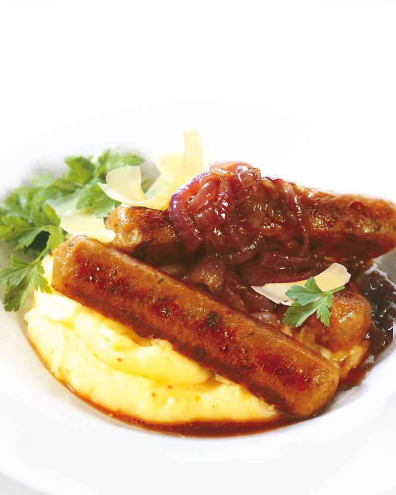 Caramelised Onion Bangers and Mash Image