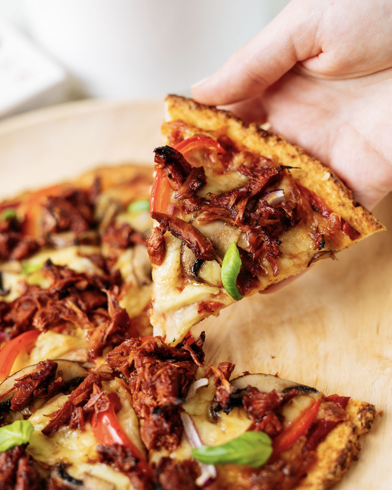 BBQ Jackfruit Cauliflower Pizza Image